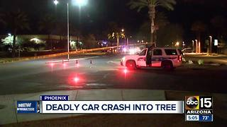 Person dies after car crashes into tree in Phoenix