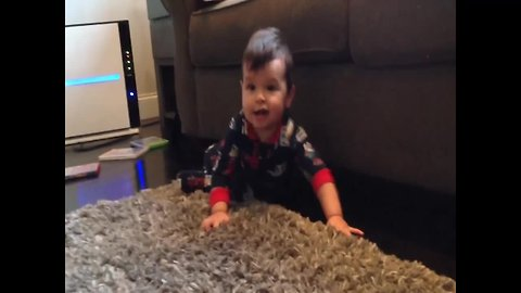 Little Boy Loves to ROCK OUT!