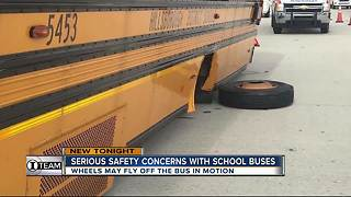 Safety Concerns: Wheels fall off moving school buses within days of each other - Video