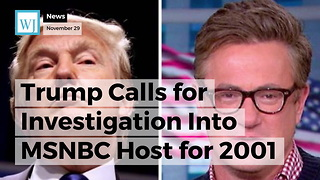 Trump Calls for Investigation Into MSNBC Host for 2001 Death of Congressional Aide - Video