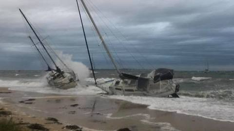 Boats Washed Ashore as Storm Batters Southwestern Perth