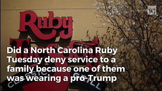 Family Claims Ruby Tuesday Denied Them Table Over Trump Shirt, Post Pictures