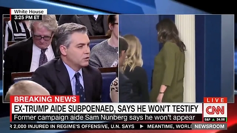TRIGGERED: Sarah Sanders Continues To Ignore CNN's Acosta. Acosta Loses It.