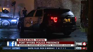Police investigation in Fort Myers apartment complex - Video