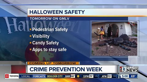 Halloween safety promo for 10/31