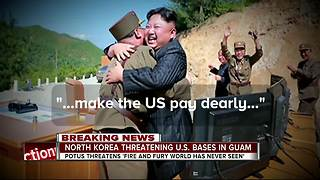 North Korea threatening U.S. bases in Guam - Video