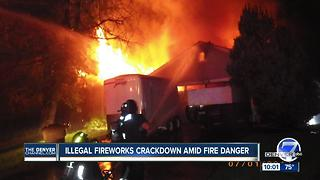 Police crack down on illegal fireworks amid high fire danger in Colorado - Video