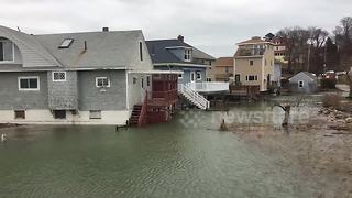 Massachusetts town hit with coastal flooding after winter storm - Video
