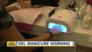 Doctors warn that gel manicures using UV lights could increase risk of cancer - Video