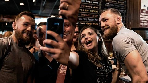 Conor McGregor Proves He's a 'Proper' Lad by Taking Photos with Fans