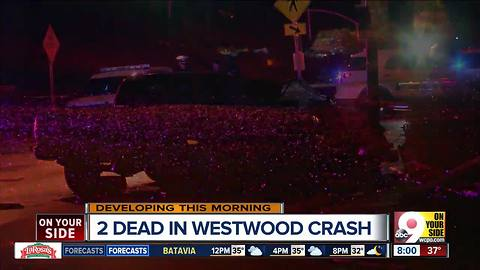 Westwood crash kills 2 people overnight