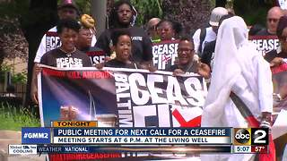 Public meeting on next ceasefire in Baltimore