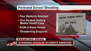3 Marjory Stoneman Douglas High School students arrested - Video