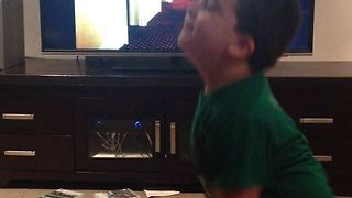 3 year boy imitates Mr Bean's dance moves  - Video