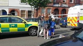 Police cordon off south London street after 'schoolboy stabbing' - Video