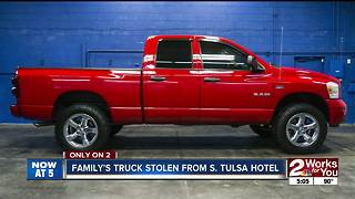 Pickup stolen from cancer patient in Tulsa, found hours later in Muskogee - Video