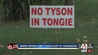 Anger grows over Tyson Plant in Tonganoxie - Video
