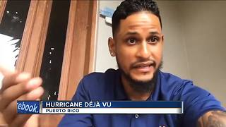 Man with local ties prepares for Hurricane Maria in Puerto Rico - Video