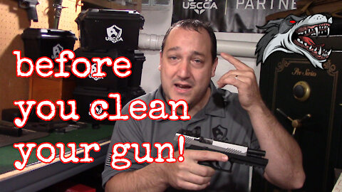 Before you Clean Your Gun. What you NEED to know to stay safe when cleaning your firearm.