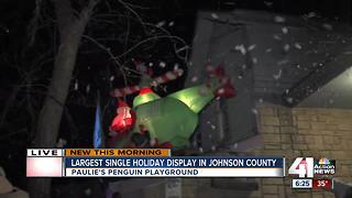 Local holiday display raises money for cancer research - Video