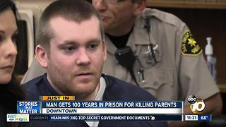Man sentenced 100 years to life for killing parents - Video