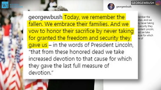 George W. Bush Issues Special Memorial Day Message - Video