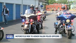 Patriotic Riders Honor Fallen Police Officers - Video