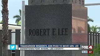 Transgender Residents Join Push to Move Statue - Video