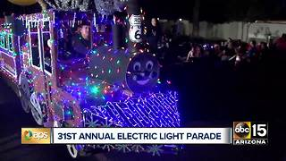 Annual Electric Light Parade held in downtown Phoenix - Video