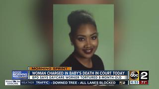 Daycare worker charged in 8-month-old's death in court - Video