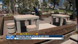 Anti-terror measures hiding in plain sight along boardwalk of Embarcadero - Video