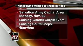 Salvation Army hosts Thanksgiving meals for those in need - Video