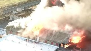 Fire Rips Through Former Salem China Factory