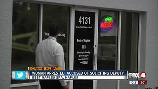 Massage parlor employee facing prostitution charges - Video