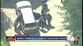 Suspect arrested at home of carjacking victim