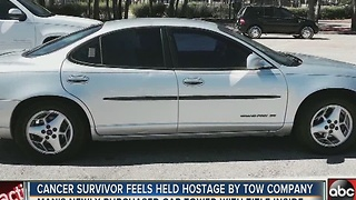 Cancer survivor fights to free car from towing impound - Video