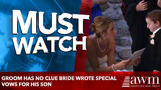 Groom Has No Clue Bride Wrote Special Vows For His Son, Everyone In The Room Ends Up In Tears - Video