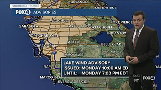 Forecast: Monday will be windy with late day showers