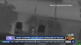 Car burglar caught on camera by Martin County Sheriff's Office helicopter - Video
