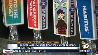 Brewery hosts head-shaving event to raise money for cancer research