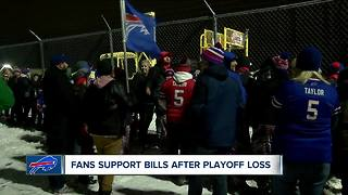 Warm welcome for Bills after playoff loss