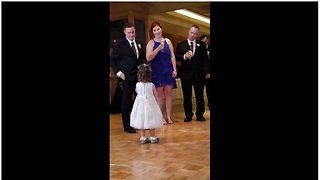 Tiny Adorable Flower Girl Gives Precious Speech At A Wedding - Video