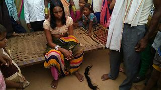 Indian women in shock after their braids are chopped off mysteriously  - Video