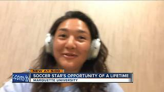 Marquette University soccer player headed to World Cup qualifiers with Philippines - Video