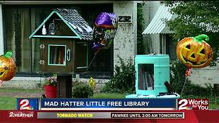 Mad Hatter Little Free Library holds grand opening - Video