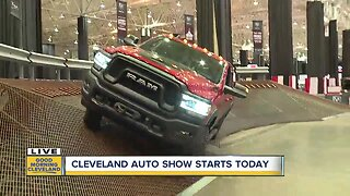 Test driving at the Cleveland Auto Show