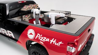 Toyota Pizza Truck Powered By Hydrogen Cells Contains Robotic Arms To Prepare Pizza