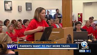Martin County parents want to pay more taxes