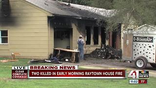 Two people dead in Raytown house fire; six others escape - Video