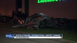 Green Bay International Airport sees damages from storms - Video